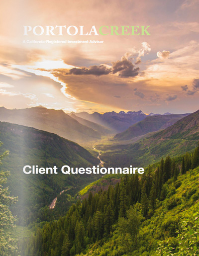 Impactful investment portfolio - Client Questionaire